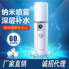 USB charging hydrator nanometer spray face steamer portable facial humidifier hand-held cold spray b white 100