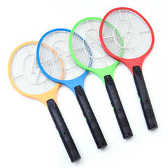Factory direct sale of multifunctional large charge electric mosquito with led light mesh flyswatter huang
