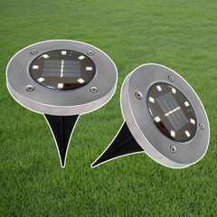 The new type of 8LED solar ground lighting outdoor lawn lighting plug-in lights cross-border e-comme Warm light