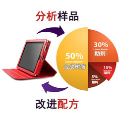 The formula of the ipad protective case is thin hand feeling good plasticizer simple wear-resistant  red apple