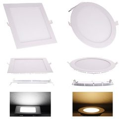 Adjustable light panel lamp 9w tube lamp thin material panel lamp circular square hot selling 3000 k (warm white)