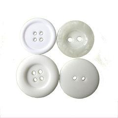 供应四眼树脂圆边面包纽扣珠光钮扣衬衫白色扣子DIY手工扣子厂家 按客人要求订做 16L=10.0 MM