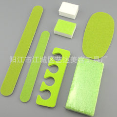Disposable sponge square wooden nail file nail file set foot trimming tool 130 * 15 mm