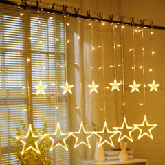 Colorful lamp factory direct sale led star curtain lamp string romantic decoration full star curtain 220