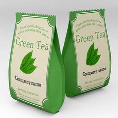 Custom-made red tea packaging bag white self-sealing zipper tea maofeng green tea transparent color  color