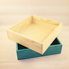Multi-functional wooden box box wooden box solid wood box desktop creative wooden box wholesale cust blue