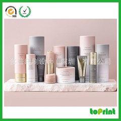 欧美流行圆形化妆品包装盒 厂家定做护肤品化妆品纸罐 天地盖