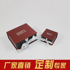 Guangzhou jewelry box high-end jewelry book box ring paper box necklace box manufacturers direct sel 10 * 10 * 5