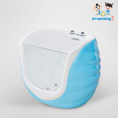 Baby friendly swimming pool acrylic children`s hall equipment single side transparent baby shop surf The light blue 109 * 91 * 95 (cm)