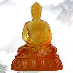 Amitabha Buddha ancient glass Buddha unlimited longevity Buddha statue amber