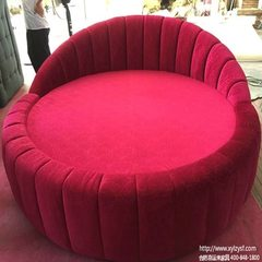 Custom hotel round bed theme hotel water bed round bed happy to come to the lovers bed manufacturer The big red H870mm W2300 L2200 * *