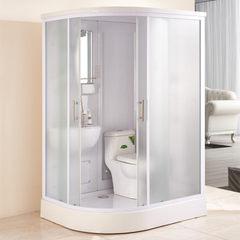 整体淋浴房浴室弧扇型一体集成卫生间带马桶宾馆酒店公寓家用批发 140*110*220(无马桶)
