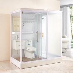 淋浴房整体卫生间酒店宾馆工程浴室一体式干湿分离移动集成卫浴 正开门左(不带马桶)