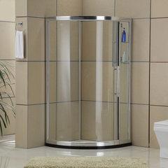 卫浴厂家批发卫生间淋浴屏风 内配置物架弧形淋浴房 D1072A. 900*1000*1850mm