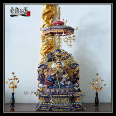 Treasure the king of heaven statue of Buddha tanzong bronze statue of god of wealth yellow god of we Total height of 140 cm