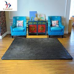 供应手工真牛皮地毯家居4.0m厚度 现代简约家居软饰牛皮地毯定制 可定制 定制