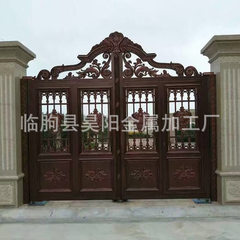 Factory direct sale aluminum art door processing customized aluminum metal door aluminum community v 999999