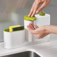 厨房洗碗海绵收纳置物架厨房用品多功能水槽洗洁精皂液器洗手液瓶 绿色