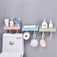 免打孔浴室置物架厨房无痕贴强力粘贴置物架 厨房浴室PP置物架 北欧蓝