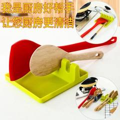 Patented upgrade kitchen furniture shelf spatula rack receive spatula cushion spoon receive cushion  green