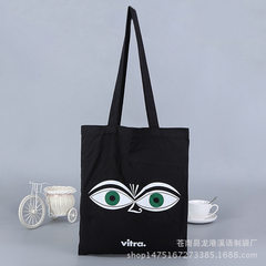 Fashion creative advertising green bag green beaded canvas pocket shopping bag customized logo guang Can be customized