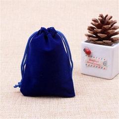 定制双抽绳束口绒布袋 单色丝网印刷 礼品首饰饰品包装绒布小袋子