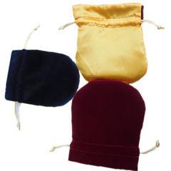弧形束口包装袋 半圆形收纳绒布袋生产厂家现货批发定制加厚