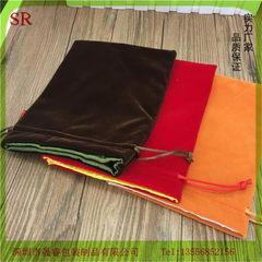 色丁内衬双层绒布袋订做 文玩盘珠加厚绒布袋 深圳绒布袋厂家