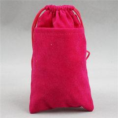 定制抽绳红色绒布袋 礼品包装首饰饰品小袋子 拉绳收口袋