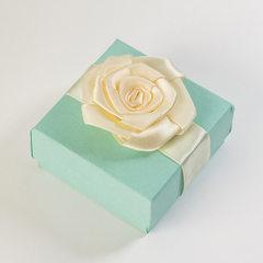 高档戒指盒 蝴蝶结包装盒 小手链耳钉盒 精品饰品盒定制批发 兰 1号
