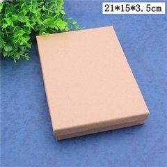 Spot wholesale tiandi cover jewelry packaging box retro kraft universal gift box large size jewelry  15 * 21 * 3.5 cm
