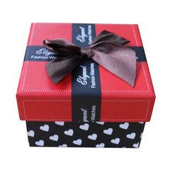 厂家手表盒纸盒  礼品 手镯 首饰 项链 手链盒 手表包装盒批发 红色白枕头