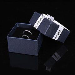 High - grade gift box can be put bracelet bracelet bracelet, ear nail ring, necklace, bracelet jewel FashionJewelry ribbon (FashionJewelry ribbon 0.5cm) 7 * 7 * 4.5 cm