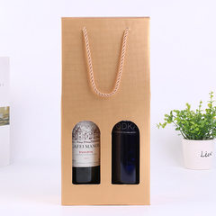 Manufacturer spot gold wine gift box red hand - held wine box New Year goods packaging box wholesale 17 x9x36. 5 cm