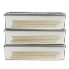 Kitchen refrigerator food storage box Japanese noodle preservation box plastic cover drawer sorting  khaki