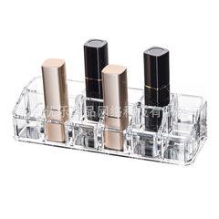 厂家现代塑料透明口红化妆品收纳盒口红亚克力展示架 透明