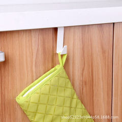 Holi GULEK small fresh wall hanging door cabinet hook a single set of non-perforated hanging kitchen white