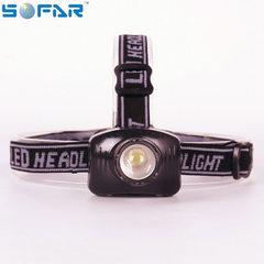 厂家直销 LED头灯 强光打猎矿灯白光户外夜钓鱼灯探照灯远射手 黑色
