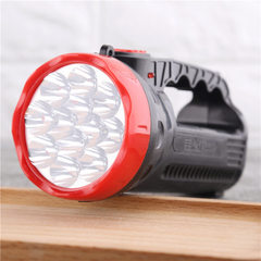 12灯 室外野外手提式充电强光远射探照灯 led户外二档手持手电筒 12灯头/2档