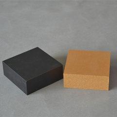 密度板黑色手镯饰品盒 方形高档手表盒包装盒子定做木质吊坠礼盒 可定做 9*9*3.5