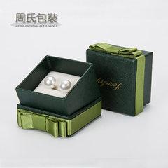 高档珠宝首饰盒 蝴蝶结戒指盒 珍珠盒 6.5*6.5cm热销现货批发 红色