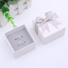 首饰高档戒指盒 蝴蝶结包装盒小手链耳钉盒 饰品盒定制批发 灰色 13号