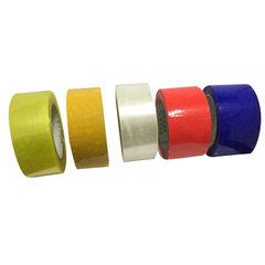 快递打包封口透明胶带印字米黄色封箱胶带批发胶布4.5cm红色胶带 透明胶带