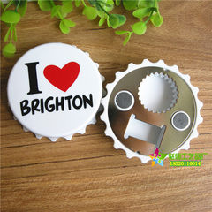 Bottle opener creative bottle opener manufacturers supply color screen printing plastic bottle cap o