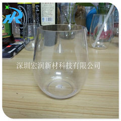 Supply 2017 new plastic high-end wine with 18oz plastic thick base glass
