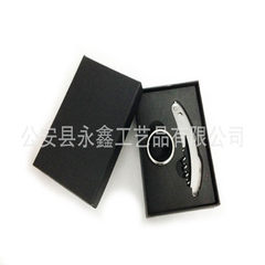 Manufacturer direct sale wine wine bottle box set cover bottle opener two - piece promotional gift s 3 * 10.5 * 10.5 cm