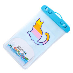 Creative cartoon mobile phone waterproof bag colorful animal PVC sealed waterproof bag camera waterp The kitten 99% mobile phone