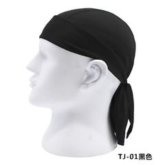 Sports soft equipment cycling outdoor sports headscarf breathable fast dry sunscreen pirate hat moto TJ - 01 black All code