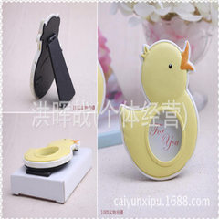 Cute baby duck resin mini photo frame creative gift box for baby full moon birthday present for chil 8 cm