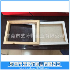 Professional wholesale fir wood 1.5X1.5 oil painting frame resin frame 6 inch photo frame customized Customized in any size